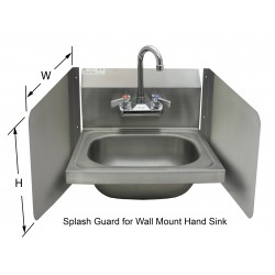 Wall Mount Splash Guard for Hand Sinks