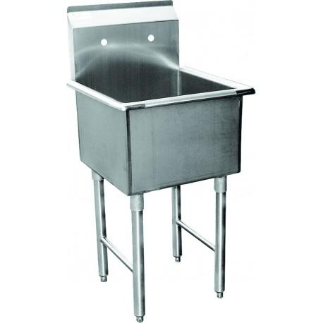 One Tub Food Prep/Mop Sink   No Drain Board
