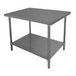Economy Work Table - Stainless Steel Top, Galvanized Undershelf