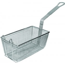Nickel Rectangle Fry Basket w/ Plastic Coated Handle