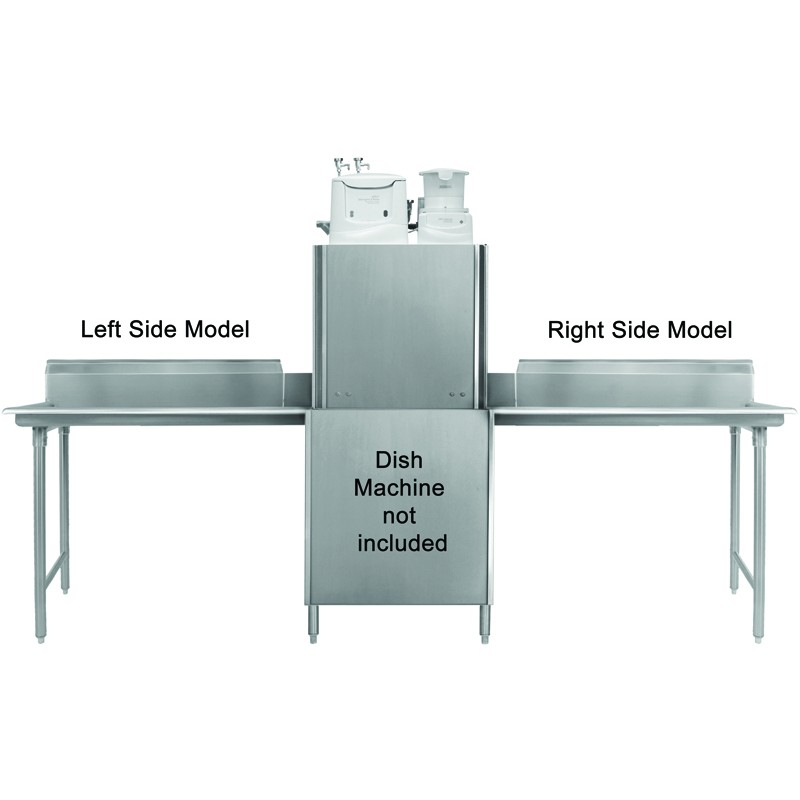 Heavy Duty Stainless Steel Clean Dishtable GSW - Stainless steel table with backsplash and sides