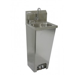 Foot Operated Hand Sink with Faucet & Soap Dispenser