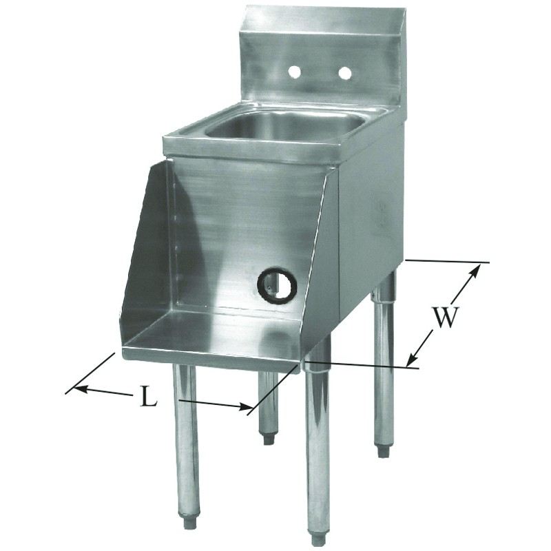 Stainless Steel Blender Station W Power Cord Access Hole