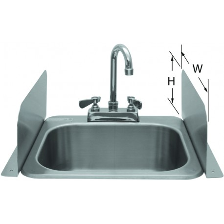 Deck Mount Splash Guard For Hand Sinks Gsw