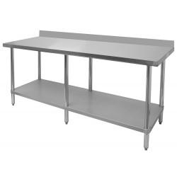 "Stainless Steel 4"" Rear Upturn Table"