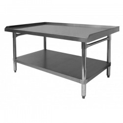 "Premium Equipment Stand - All Stainless Steel w/ 1"" Upturn on 3 Sides"