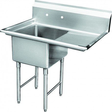 One Tub Food Prep/Mop Sink - No Drain Board