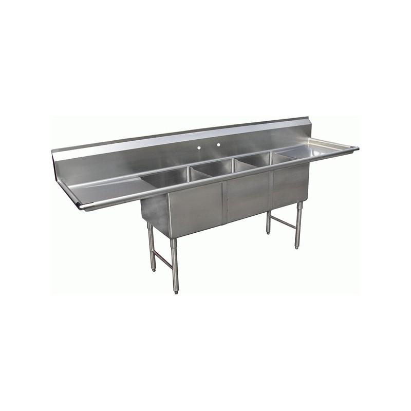 3 Compartment Sink 2 Drain Boards Gsw