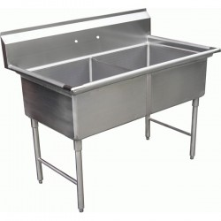 2 Compartment Sink - No Drain Board