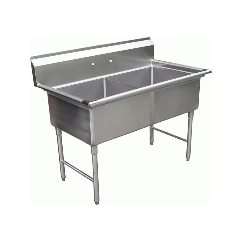 2 Compartment Sink No Drain Board Gsw
