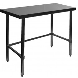 Stainless Steel Flat Top Open Base Worktable