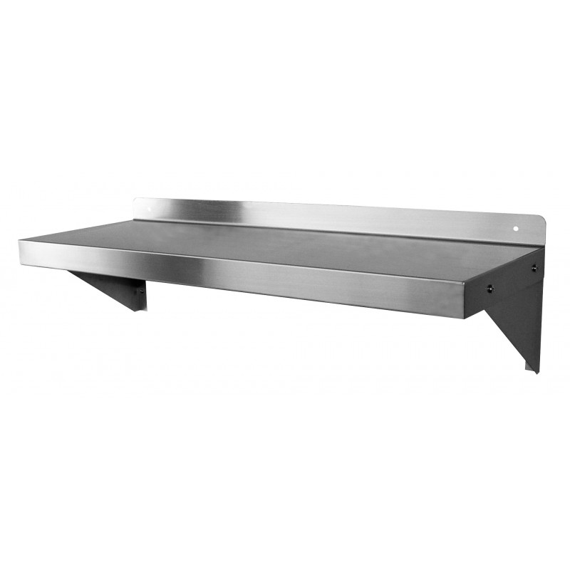 stainless steel wall mount shelf gsw. Black Bedroom Furniture Sets. Home Design Ideas