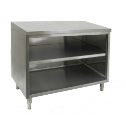 Flat Top Enclosed Work Table - No Door