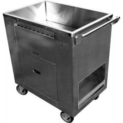 Stainless Steel Steam Cart