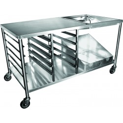 Stainless Steel Premium Donut Table w/ Accessories