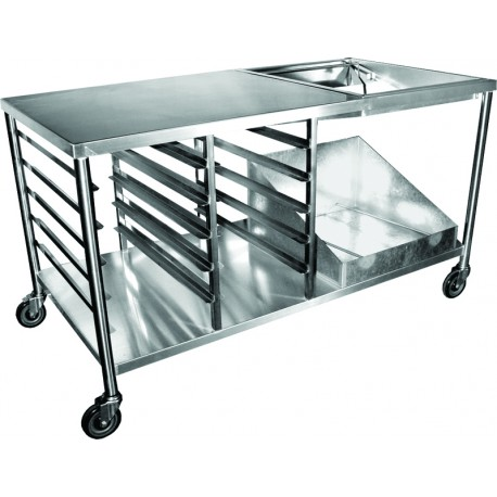 Stainless Steel Premium Donut Table W Accessories GSW - Stainless steel table accessories