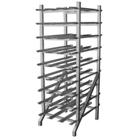 All Welded Aluminum Can Rack