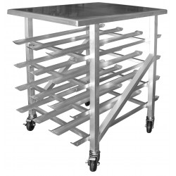 All Welded Aluminum Half Size Can Rack