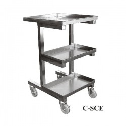 S/S Adjustable Height Sauce Cart
