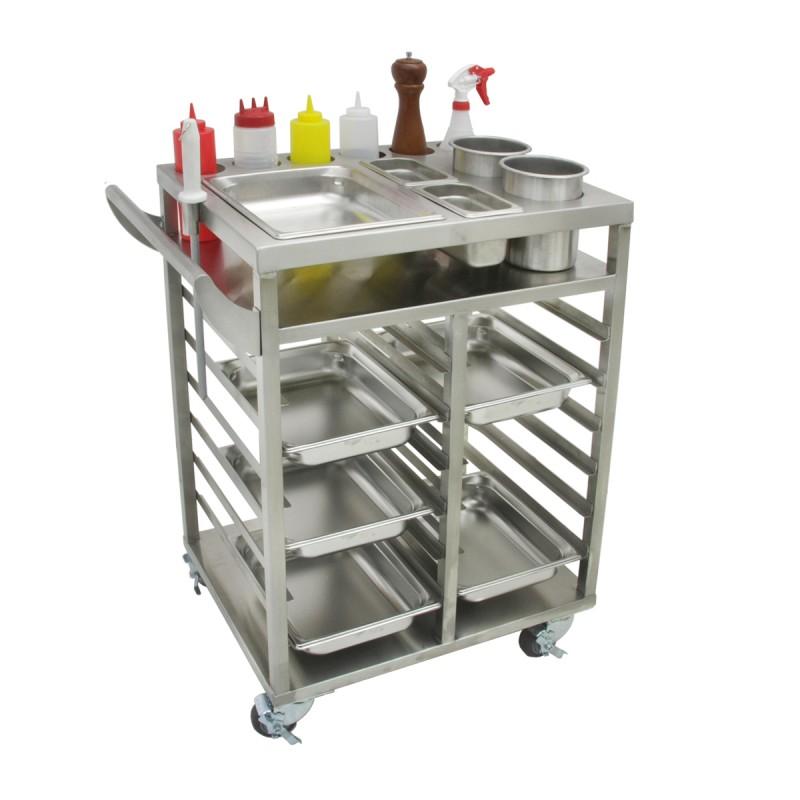 Stainless Steel Teppanyaki Ingredient Cart Gsw