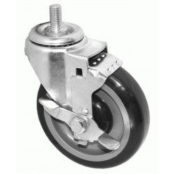 Threaded Casters - Side-Brake