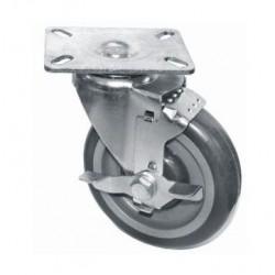 Swivel Plate Casters - Side Brake