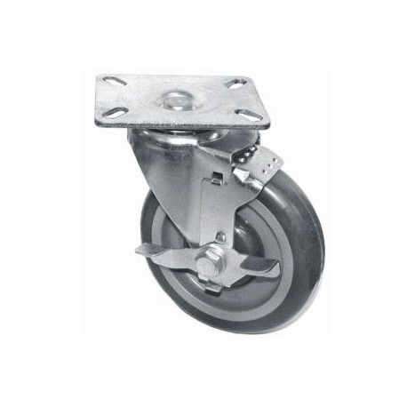 Swivel Plate Casters - Side Brake