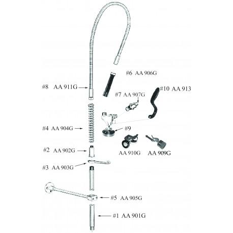 Pre-Rinse Unit Parts and Spouts