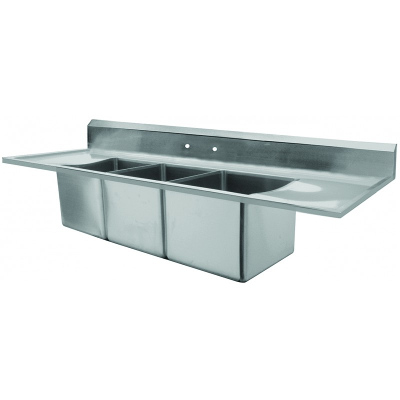 2 compartment sink revit sinks drain board boards washing used