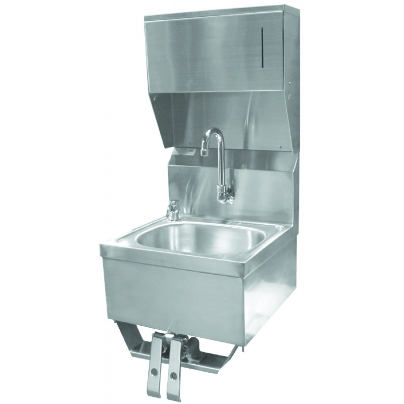 Knee Operated Hand Sink w/ Towel and Soap Dispenser - GSW
