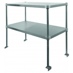 Stainless Steel Adjustable Double Over Shelf