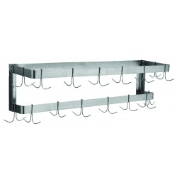 Stainless Steel Double Wall Mount Pot Rack