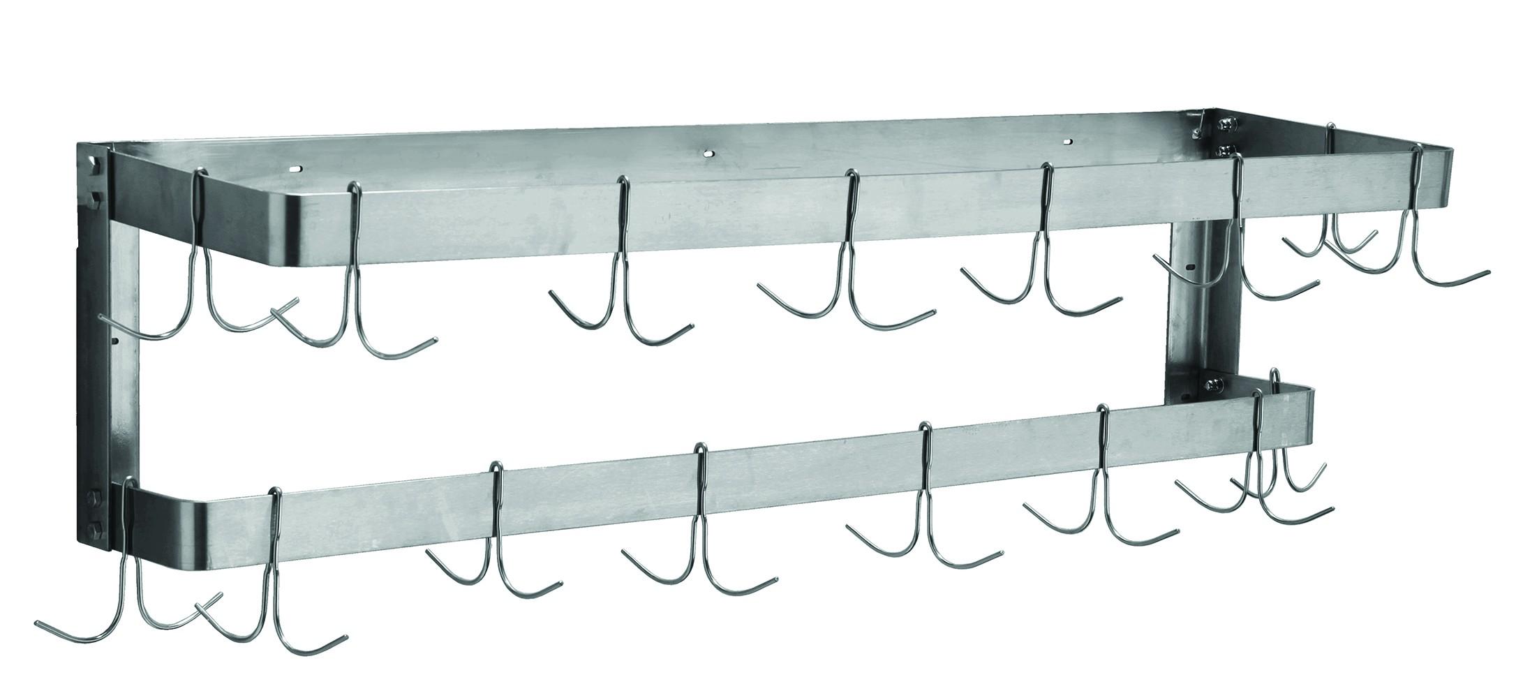 shelf mounted draining pot commercial stainless steel wall goods shelves