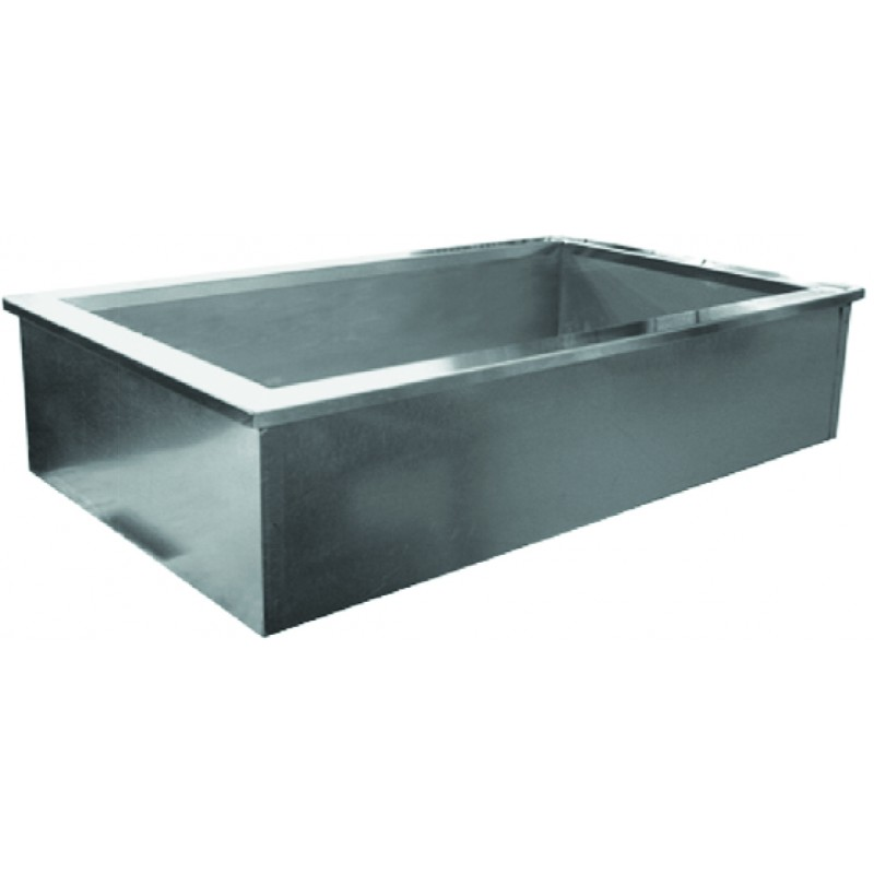 Floor Mounted Mop Sink : Stainless Steel Ice Cool Cold Pans - GSW