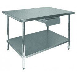 Tables GSW - Stainless steel work table with drawers