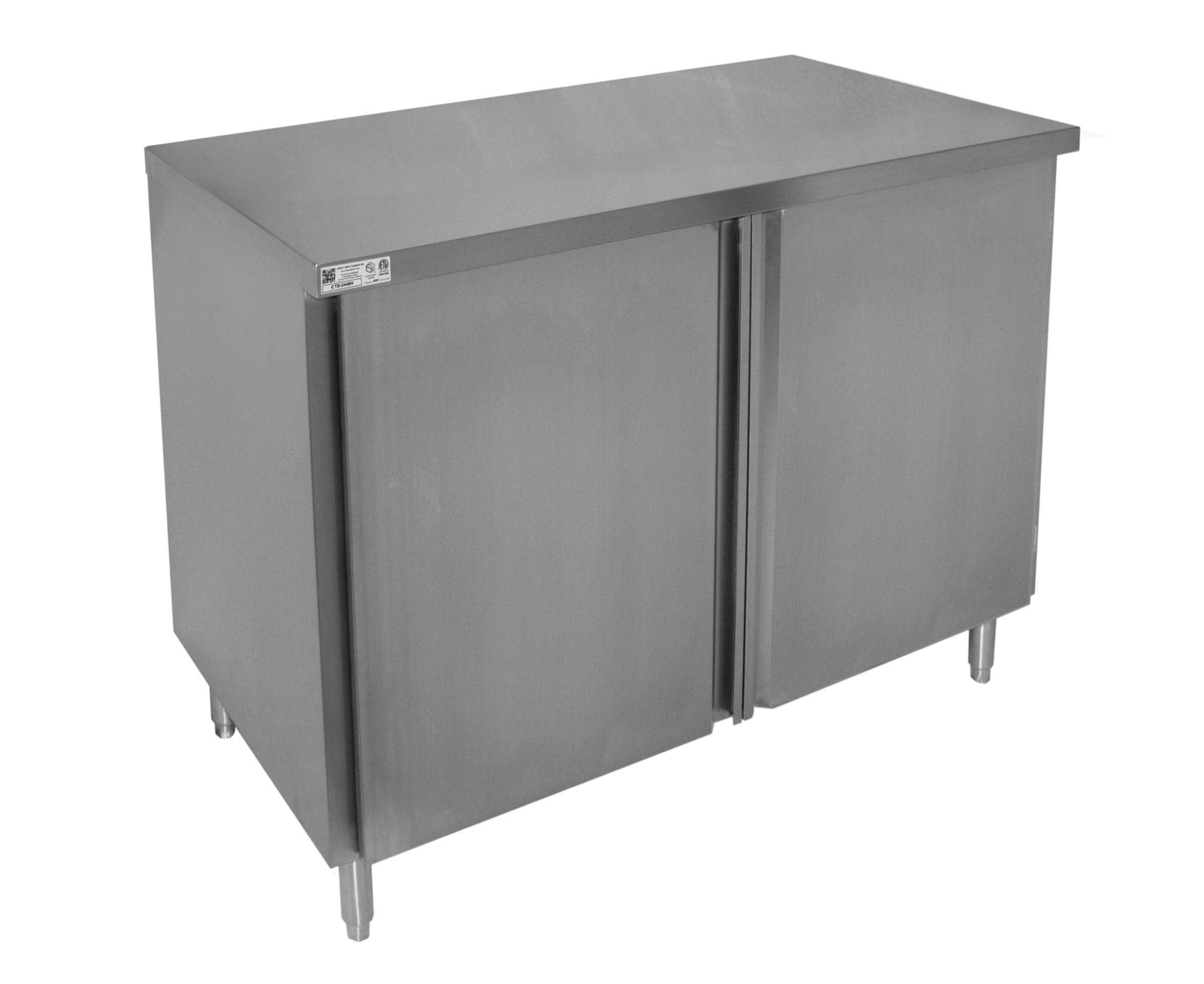 Flat Top Enclosed Work Table Sliding Doors Gsw