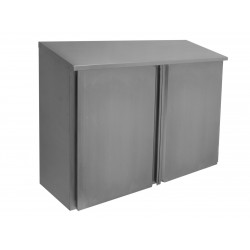 Stainless Steel Slope Top Wall Cabinets - Hinged Doors