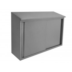 Stainless Steel Slope Top Wall Cabinets - Sliding Doors