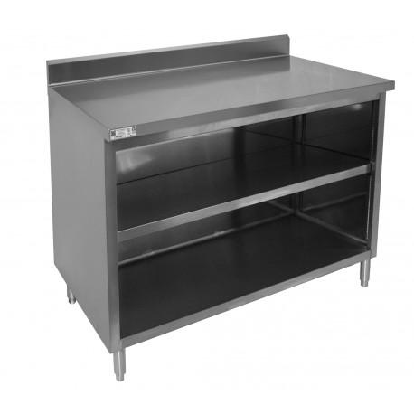 "4"" Rear Upturn Enclosed Work Table - No Door"