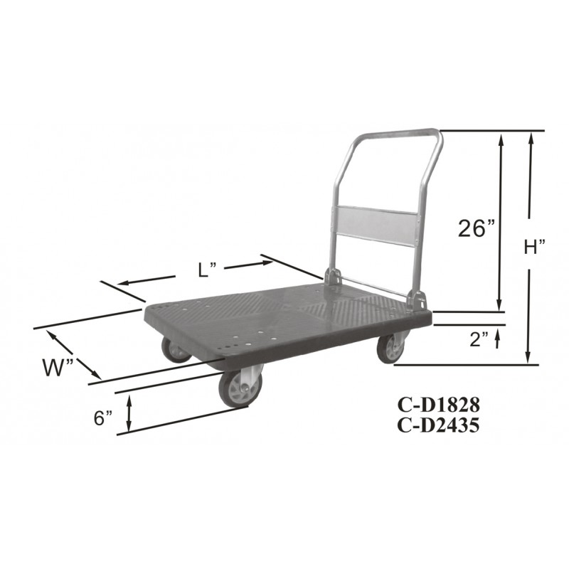 Fold Down Platform Truck Gsw