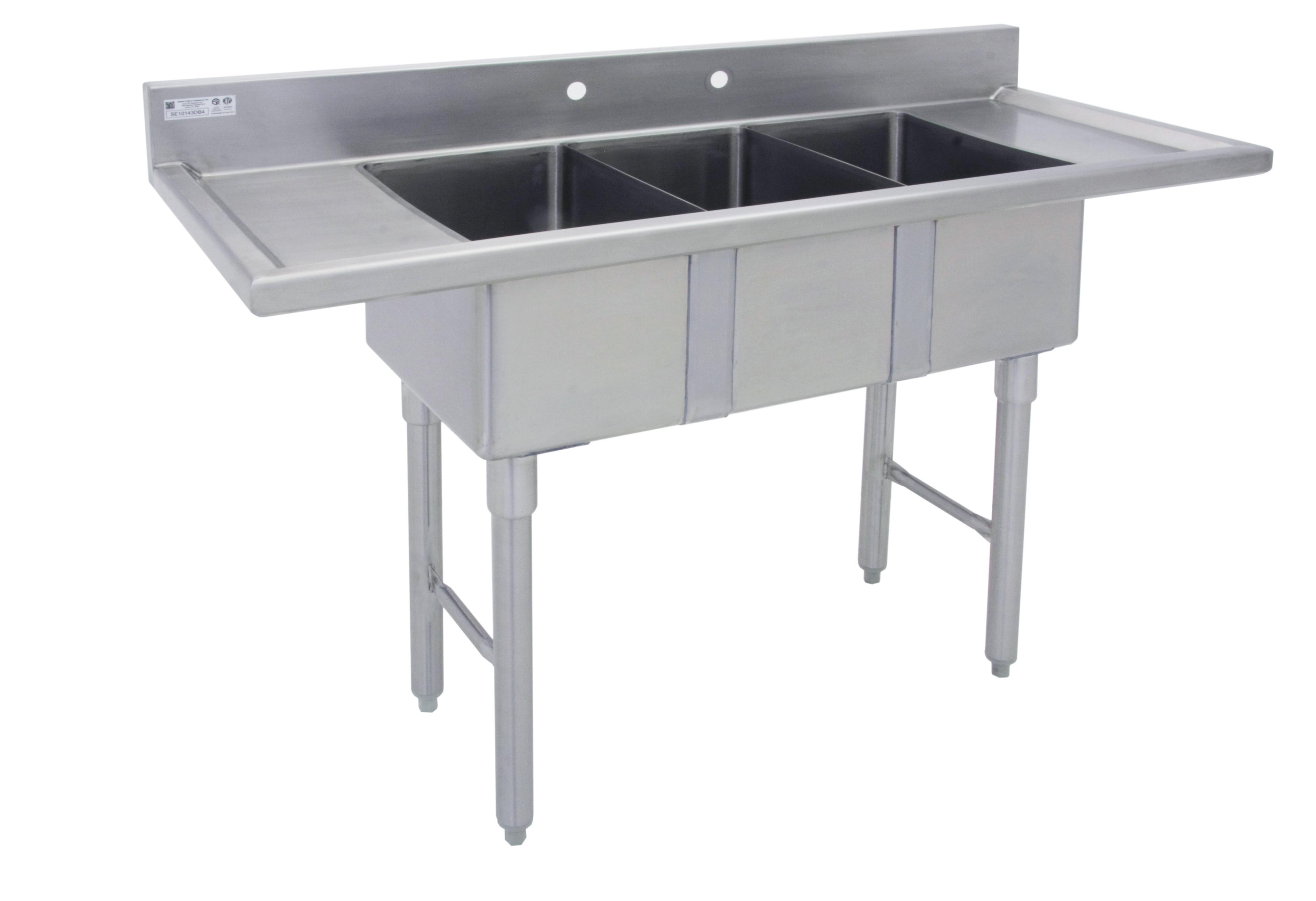 marine edge three compartment mini sink