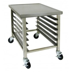 6 Pans Rack Work Top Cart