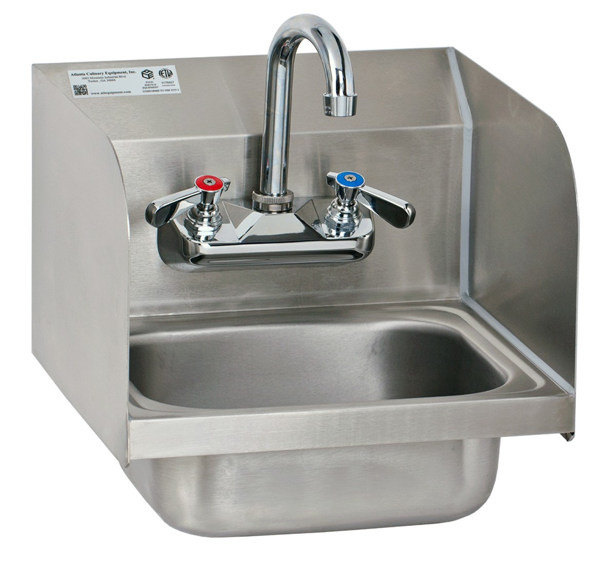 Wall Mount Hand Sink with Welded Splash Guards - GSW