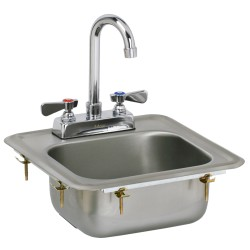 Drop In Hand Sink with No Lead Faucet and Strainer