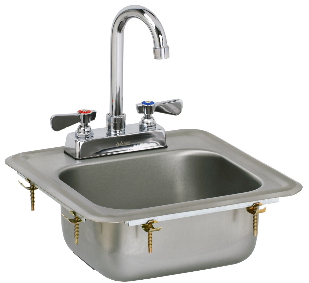 Drop In Hand Sink with No Lead Faucet and Strainer - GSW