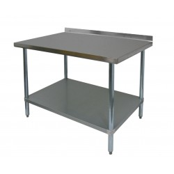 "Work Table - Stainless Steel Top w/ 1-1/2"" Rear Upturn"