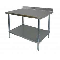 "Premium Work Table - All Stainless Steel w/ 4"" Rear Upturn"