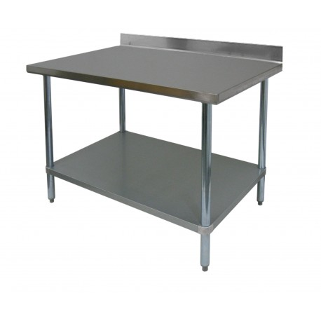 "Stainless Steel 4"" Rear Upturn Table"