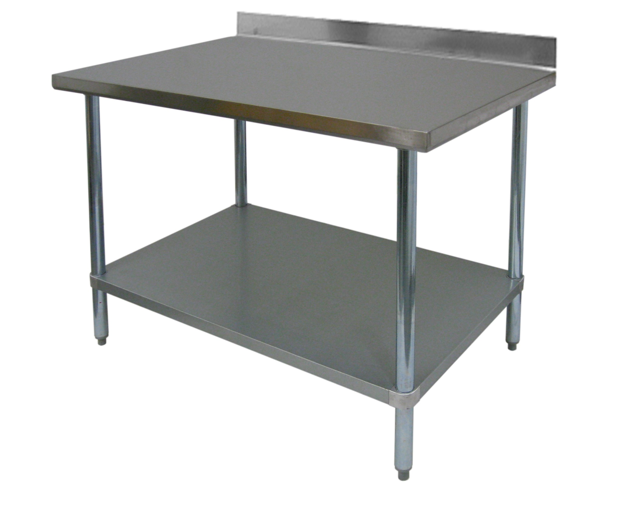 "Premium Work Table All Stainless Steel w 4"" Rear Upturn GSW"