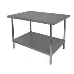 Commercial Work Table - Stainless Steel Top, Galvanized Undershelf